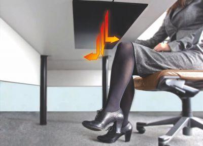 Dimbare verwarmer onder het bureau (infrarood)
