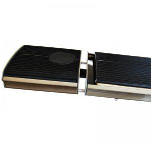 1000W Blackheater zwart keramisch gecoat 230V geschikt als terrasheater met bluetooth speaker en afstandsbediening