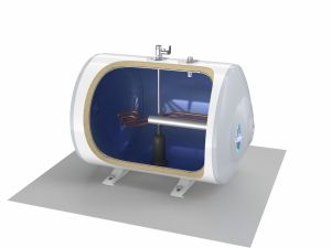Tesy Elektrische boiler 60 liter horizontaal vloermontage