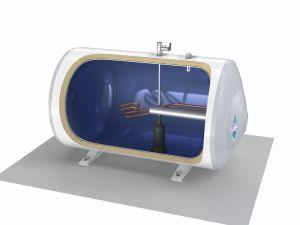 Tesy Elektrische boiler 100 liter horizontaal vloermontage