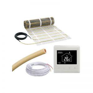 8m2, 3mm mat, E-mat MDIR-50X1600, incl thermostaat en sensorbuis, 1240W