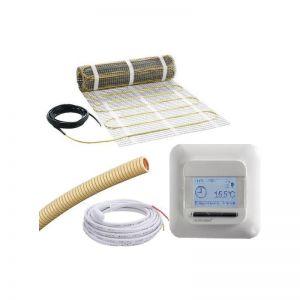 4m2, 3mm mat, E-mat MDIR-50X800, incl thermostaat en sensorbuis, 620W