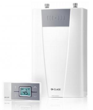 Compacte elektrische doorstroomverwarmer Clage CFX-U | 11 tot 13.5 KW | met afstandsbediening