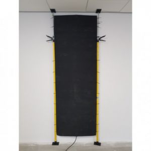 DWS-150-220-1300, verwarmingselement ideaal als muurdroger 150cm breed 220cm lang 1300W