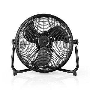 Vloerventilator | 30 cm | Stepless Fan Speed | Kantelbaar | Oplaadbaar | USB-A | Zwart