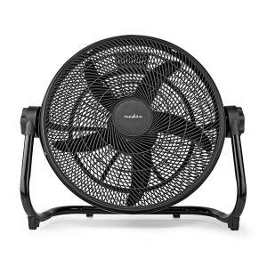 Vloerventilator | 50 cm | 3 Snelheden | Kantelbaar | Zwart