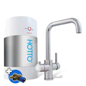 HOTTO Combiset 5 liter Inhoud  Met Quadro kraan chroom, complete set, inclusief installatie materiaal