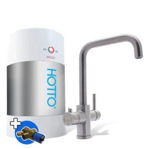 HOTTO Combiset 5 liter Inhoud  Met Quadro kraan RVS, complete set, inclusief installatie materiaal