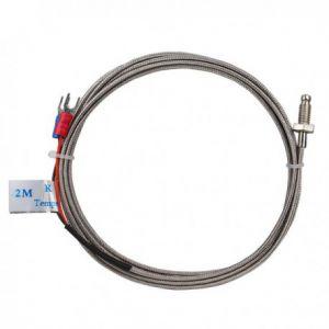 K sensor draadeind, 400cm FEP, kous omwikkeld, 2 draads