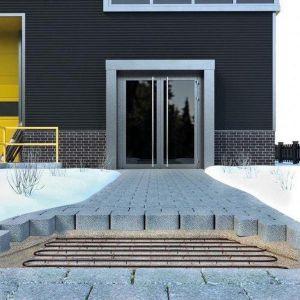oprit-laaddok-tuinpad verwarming 300 Watt 50cmx200cm 300W/m2 HTL met grufast profiel