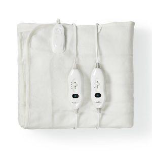 Dubbele Elektrische Deken 140 x 160 cm 3 Verwarmingsstanden met Indicatorlampje en Beveiliging tegen Oververhitting