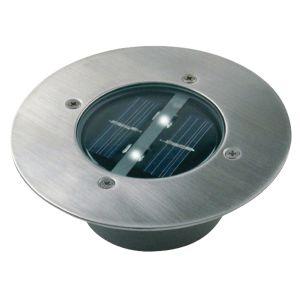 Solar Buiten Grondspot 2 LED Lamp Rond