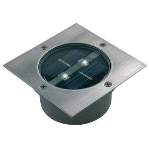Solar Buiten Grondspot 2 LED Lamp Vierkant