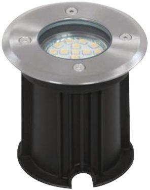 LED Grond Spot 3 Watt met geborsteld kunststof