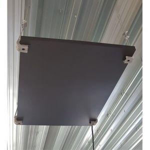 RVS infrarood paneel 680W 160'C 230V industrieel gebruik met ophang klemmen