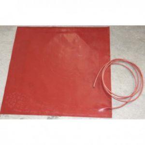 36x72cm 125W siliconen warmtemat 1500W/m2 230V, siliconen mat met een dikte van 4mm en aansluitkabel