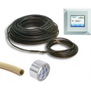 Vloerverwarming 1290 watt 6mm kabel, incl elektronische klokthermostaat MCD5 en installatiemateriaal (ca. 9,0 m? bijverwarming)
