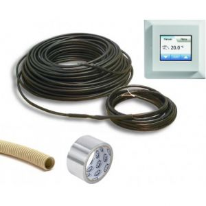 Vloerverwarming 640 watt 6mm kabel, incl elektronische klokthermostaat MCD5 en installatiemateriaal (ca. 4,5 m? bijverwarming)