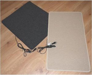 40x60cm warme voeten mat 45W-60w, antraciet of creme, 230V, aansluitsnoer met stekker en aan-uit schakelaar