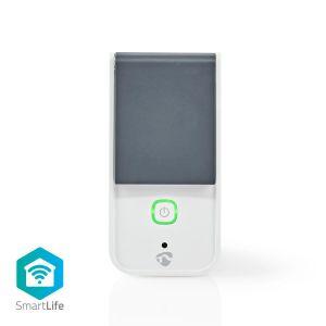 WI_FI buiten Stekker / Stopcontact IP44 | Krachtmeter | 3680 W | Schuko / Type-F (CEE 7/7) | -30 - 40 °C | Android & iOS | Wi-Fi | Wit/Grijs
