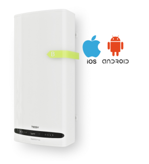 Tesy Smart Design boiler BelliSlimo Cloud 100,  80 Liter met Eco Smart Mode