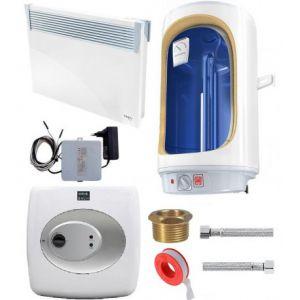 Grote woning Tesy comfort set, boiler, convectoren en wifi thermostaten, tuya compatible