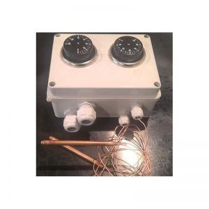 Ind. 8 ,capillaire thermostaat, 2x -0 - +120 graden celcius