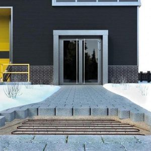 oprit-laaddok-tuinpad verwarming 390 Watt 75cmx523cm 100W/m2 HTL met grufast profiel