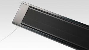 1000W Powerheater zwart gepoedercoated 230V geschikt als terrasheater, fenix ecosun