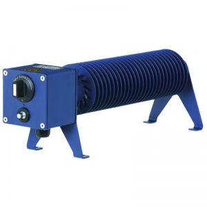 Ribbenbuiskachel type CB 1500W, 230Vac,130x165x1000mm, RAL5003, incl thermostaat IP54