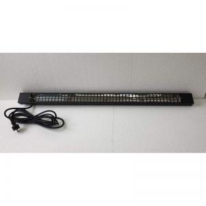 RVS heater zwart, 1500W