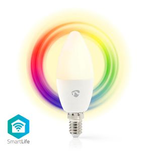 Wi-Fi smart LED-lamp | Full Colour en Warm-Wit | E14
